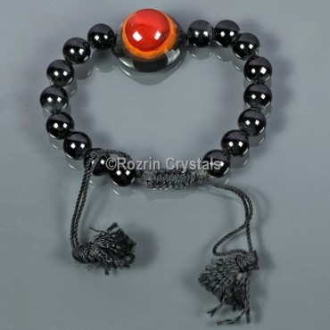 Black Jasper With Agate Eye Power Energy Bracelet