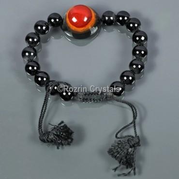 Black Jasper With Agate Eye Power Energy Bracelet