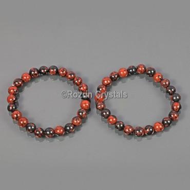 Mahaghony Obsidian Energy Bracelet