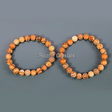 Wood Jasper stylish Gemstone Bracelet