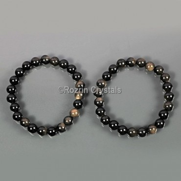 Smoky Quartz Gemstone Energy Bracelet