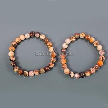 Banded Jasper Fancy Gemstone Bracelet