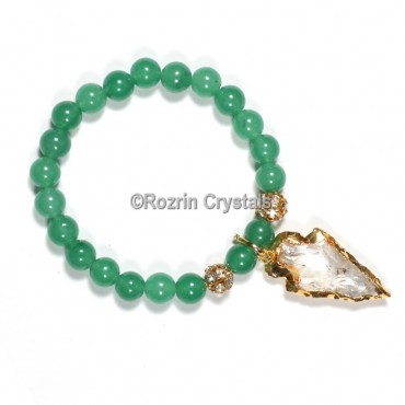 Green Aventurine With Arrow Bacelets
