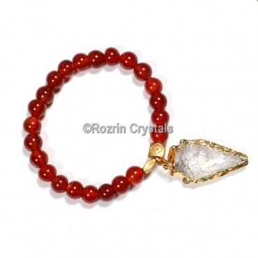 Carnelian with arrow Gemstone Bracelet