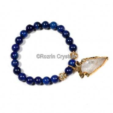 Sodalite with arrow Gemstone Bracelet