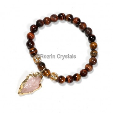 Tiger Eye with Arrow Gemstone Bracelet