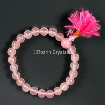 Fancy Rose Quartz Gemstone Bracelet