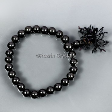 Fancy Black Onyx Gemstone Bracelet