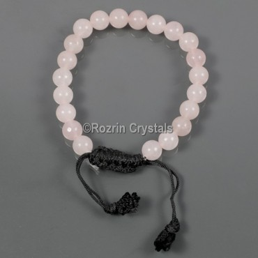 Rose Quartz Adjusteble Gemstone Bracelet style 2