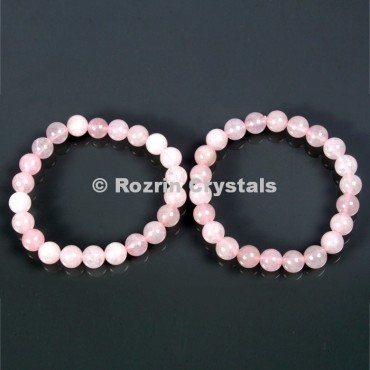Export Quality Rose Quartz Gemstone Brecelets