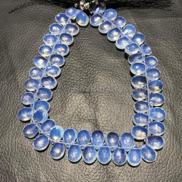 High Quality Opalite Quartz Faceted Pear Briolettes Beads,Amazing Quality,Opalite Quartz Beads