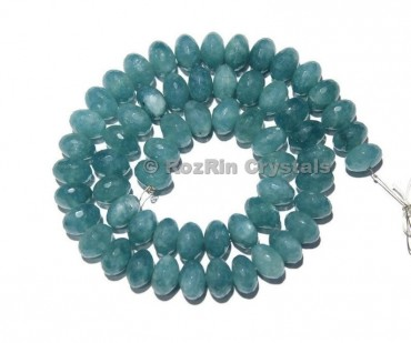Beautiful Aquamarine Quartz Faceted Rondelle Beads Aquamarine Quartz Beads