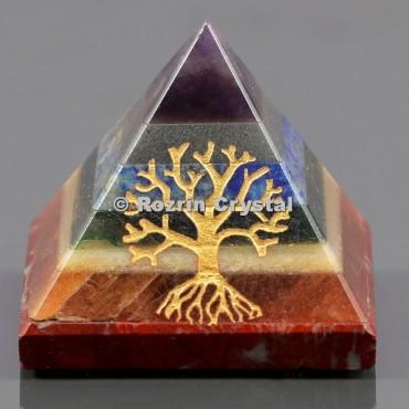 Chakra Bonded Tree Of Life Healing Pyramid