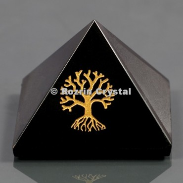 Black Onyx Tree Of Life Healing Pyramid