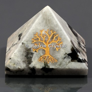 Rainbow Moonstone Tree Of Life Healing Pyramid