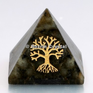 Labrodrite Tree of Life Healing Pyramid