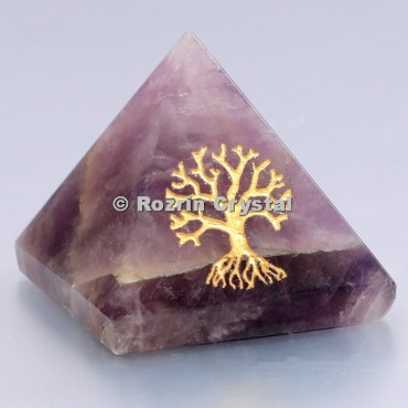 Amethyst Tree Of Life Healing Pyramid