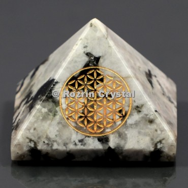Rainbow Moonstone Flower Of Life Healing Pyramid