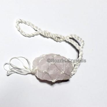 Rose quartz hanging Stone