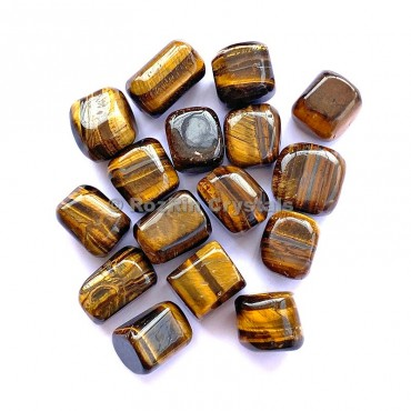 Yellow Tiger Eye Tumbled Stone