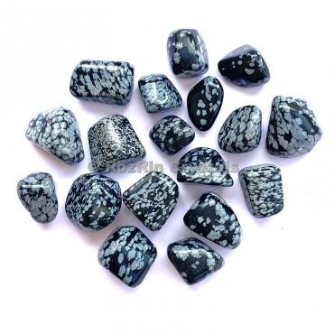 Snowflake Obsidian Tumbed
