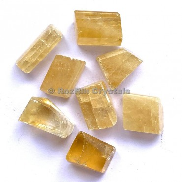 Yellow Calcite Tumbled