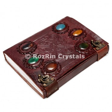 Leather Jouranls with Healing Stone