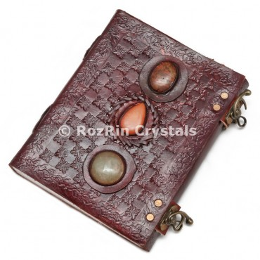 Leather Journals with 3 Healing Stone