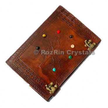 Tree Of Life Chakra Leather Journals