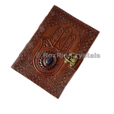 Hamsa With Lapis Leather Journals