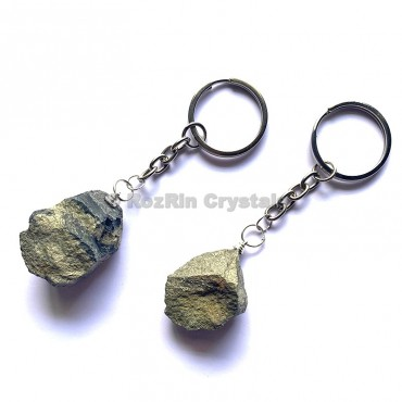 Pyrite Natural Rough Keychain