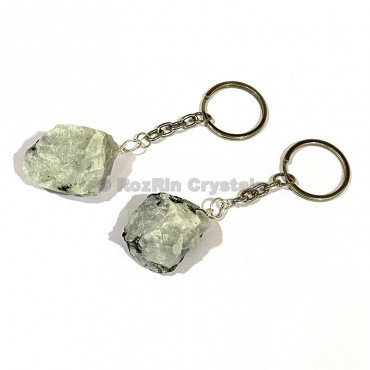 Rainbow Moonstone Natural Rough Keychain