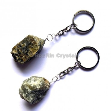 Labradorite Natural Rough Keychain