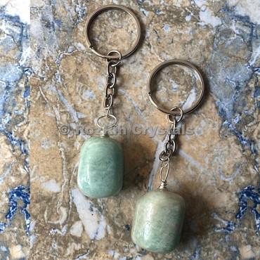 Amazonite Tumbled Stone Keychain