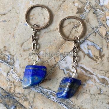 Lapis Lazuli Tumbled Stone Keychain