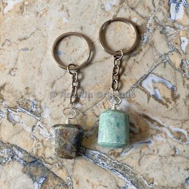 Ruby Fuchsite Tumbled Stone Keychain