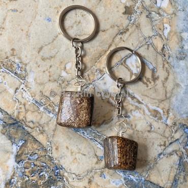 Bronzit Tumbled Stone Keychain