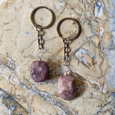 Lepidolite Tumbled Stone Keychain