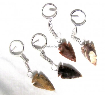 Fancy Jasper Arrowheads Keyrings