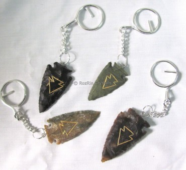 Engraved Arrowheads Keyrings