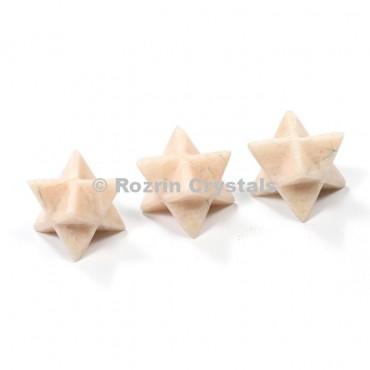 Moon Stone Merkaba Star