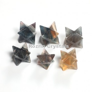Multi Flourite Merkaba Star