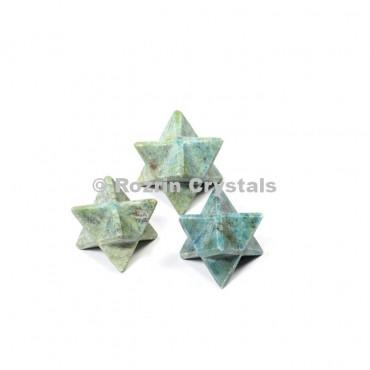 Ruby Fuchsite Merkaba Star