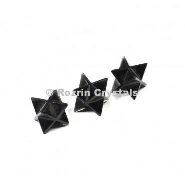 Black Obsidian Merkaba Star