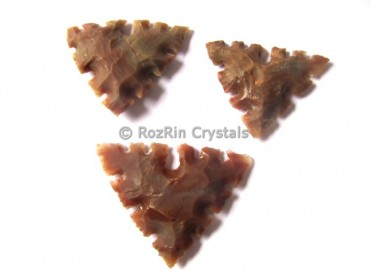 Triangle Curved Native American Arrowheads