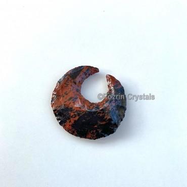 Mahagoni Obsidian Moon Crescent handmade
