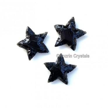 Black Obsidian Star handmade