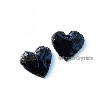 Black Obsidian Heart handmade