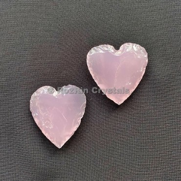 Rose Quartz heart handmade