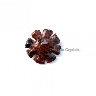 Mahagoni Obsidian Round Curved handmade